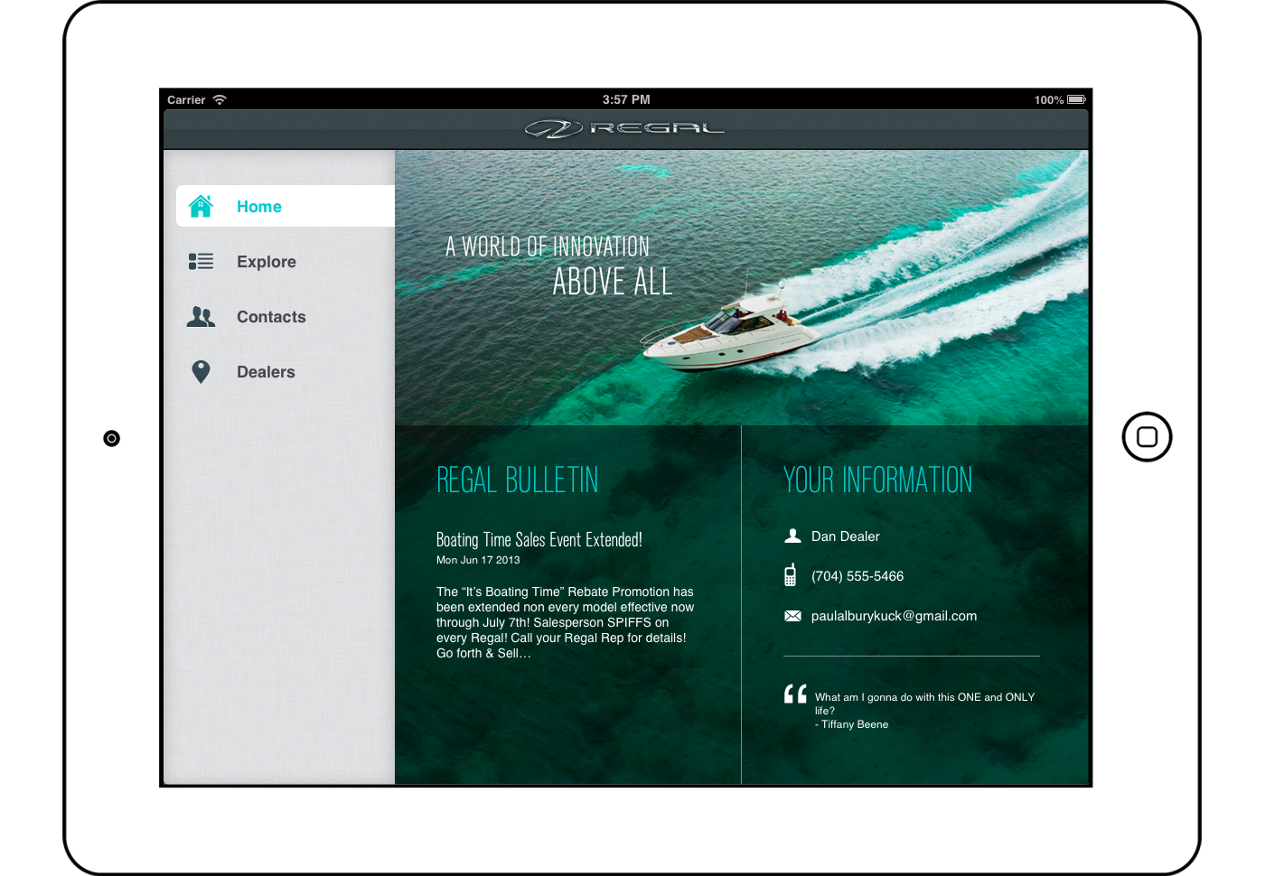 Regal Boats Dealer App